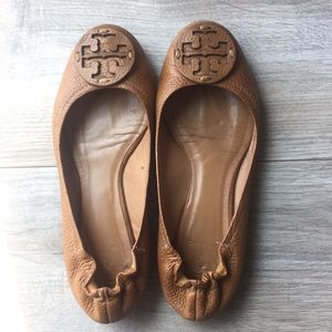 Tory Burch Shoes - Tory Burch brown leather ballet flats - Size 7